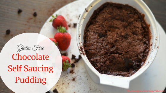 gluten free chocolate self saucing pudding